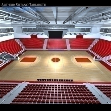 basketball arena 3 3d model 3ds dxf c4d obj 82313