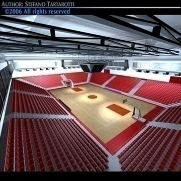 basketball arena 3 3d model 3ds dxf c4d obj 82314