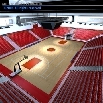 basketball arena 3 3d model 3ds dxf c4d obj 82316