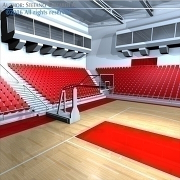 basketball arena 3 3d model 3ds dxf c4d obj 82317