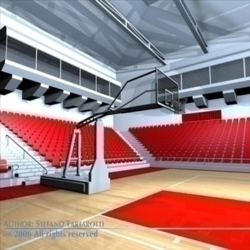 basketball arena 3 3d model 3ds dxf c4d obj 82318