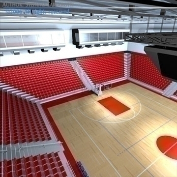 basketball arena 3 3d model 3ds dxf c4d obj 82319