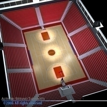 basketball arena 3 3d model 3ds dxf c4d obj 82320