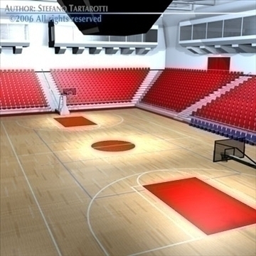 basketball arena 3 3d model 3ds dxf c4d obj 82321