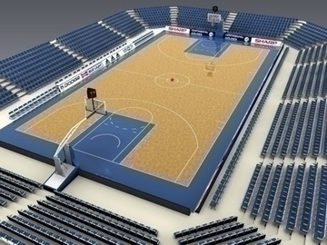 basketball court 3d model 3ds max obj 81518