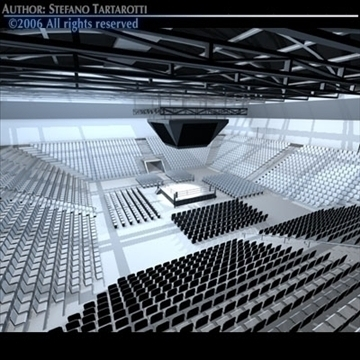 boxing arena 3d model 3ds dxf c4d obj 81910