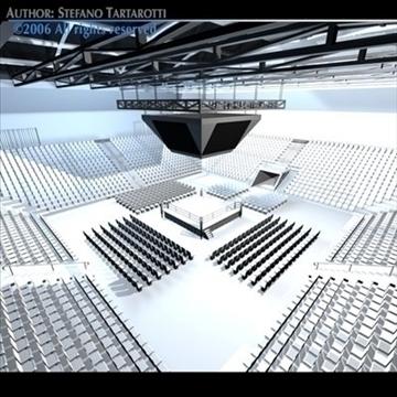 boxing arena 3d model 3ds dxf c4d obj 81911