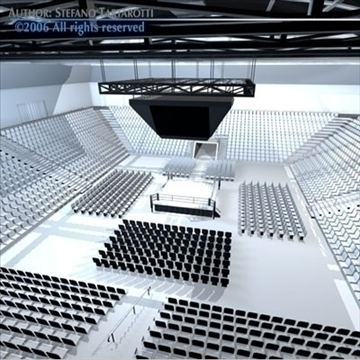 boxing arena 3d model 3ds dxf c4d obj 81912