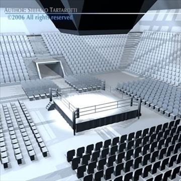 boxing arena 3d model 3ds dxf c4d obj 81914