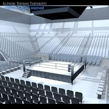 boxing arena 3d model 3ds dxf c4d obj 81915