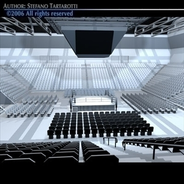 boxing arena 3d model 3ds dxf c4d obj 81916