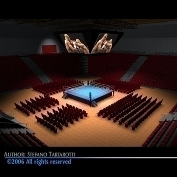 boxing arena c4d 3d model c4d 81935
