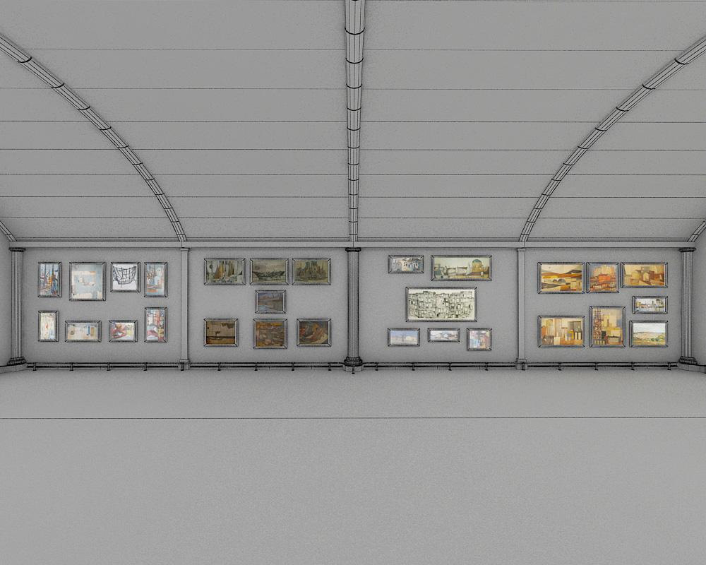 exhibition hall 2 3d model max 144600