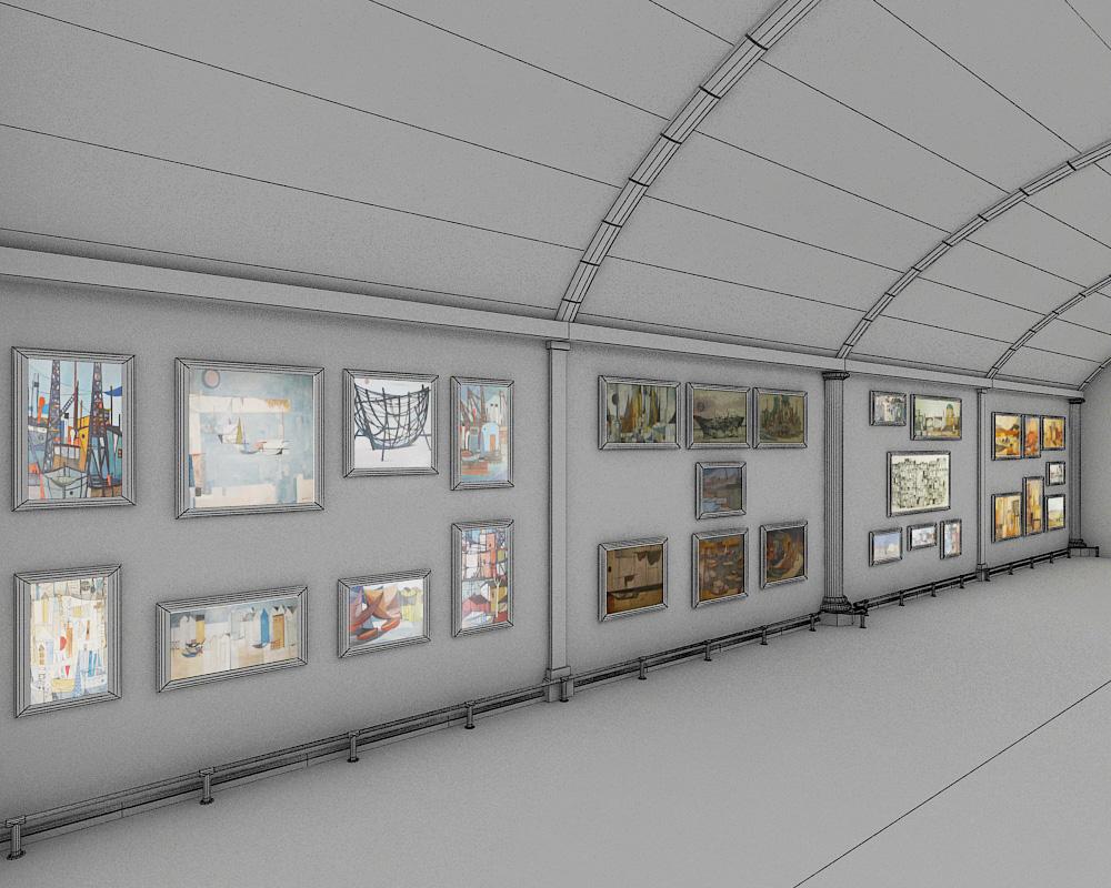 sala d'exposicions 2 3d model max 144601