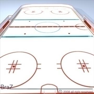 hockey field 3d model 3ds dxf c4d obj 88952
