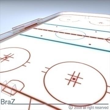 hockey field 3d model 3ds dxf c4d obj 88953