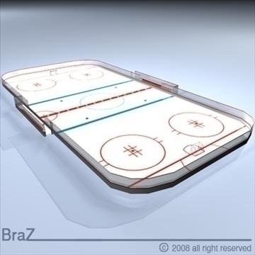 hockey field 3d model 3ds dxf c4d obj 88954