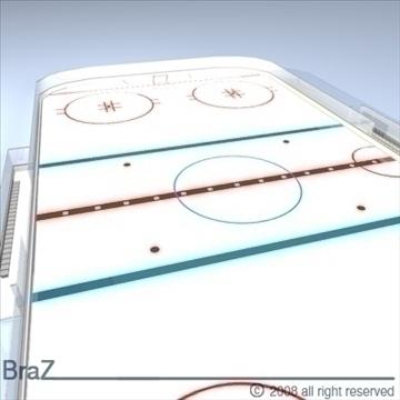 hockey field 3d model 3ds dxf c4d obj 88956