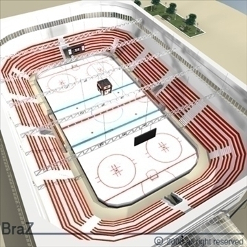 hokej stadium 3d model 3ds dxf c4d obj 88957