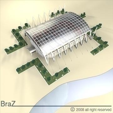 hockey stadium 3d model 3ds dxf c4d obj 88959