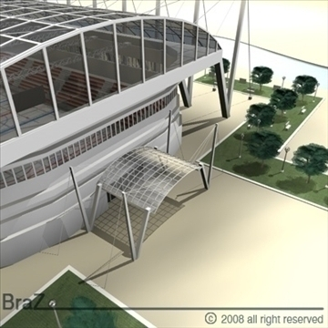 hockey stadium 3d model 3ds dxf c4d obj 88960