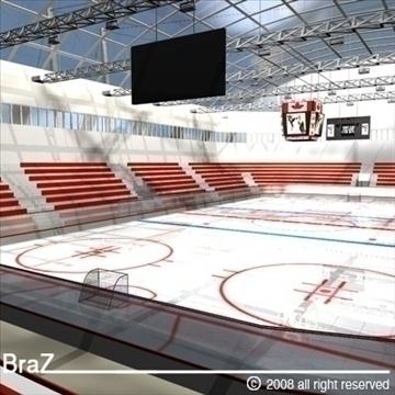 hockey stadium 3d model 3ds dxf c4d obj 88961