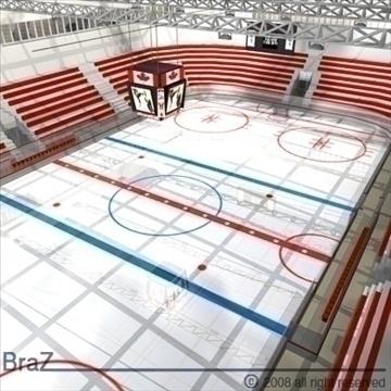 hockey stadium 3d model 3ds dxf c4d obj 88962