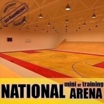 mini or training arena. (national court) 3d model max other 95582