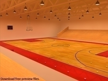 mini or training arena. (national court) 3d model max other 95583