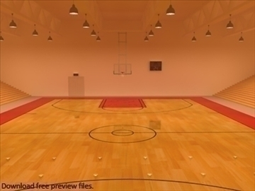 mini or training arena. (national court) 3d model max other 95584