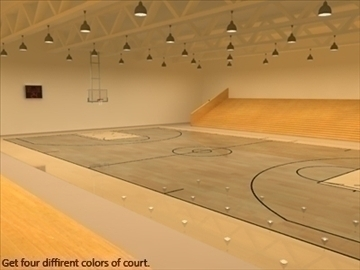 mini or training arena. (national court) 3d model max other 95589