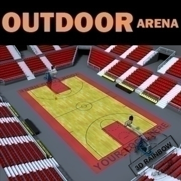 outdoor basketball arena. 3d model max other 95289