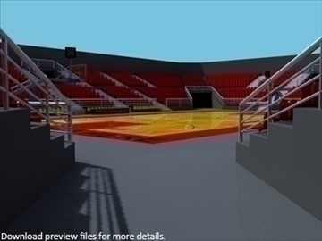 outdoor basketball arena. 3d model max other 95292
