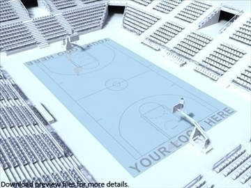 outdoor basketball arena. 3d model max other 95297