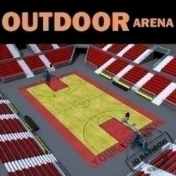 Outdoor Basketball Arena. ( 108.27KB jpg by 3d_rainbow )