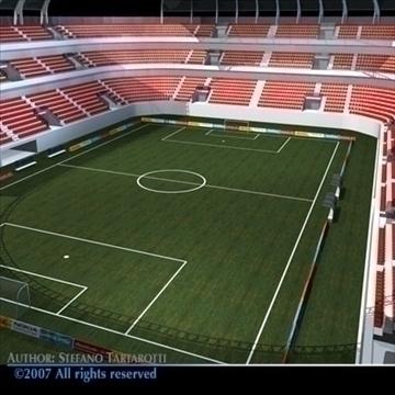 soccer stadium 3d model 3ds dxf c4d obj 84909