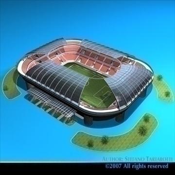 soccer stadium 3d model 3ds dxf c4d obj 84910