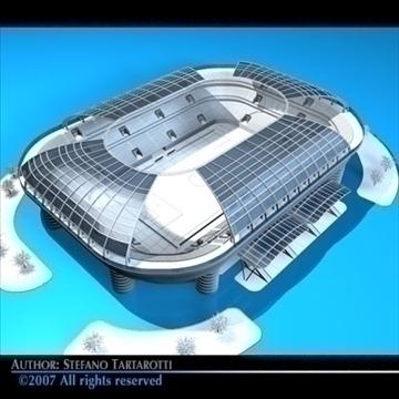 soccer stadium 3d model 3ds dxf c4d obj 84911