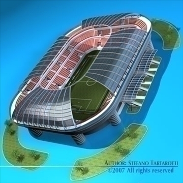 soccer stadium 3d model 3ds dxf c4d obj 84912