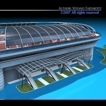 soccer stadium 3d model 3ds dxf c4d obj 84913