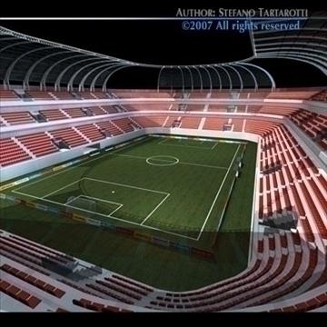 soccer stadium 3d model 3ds dxf c4d obj 84914