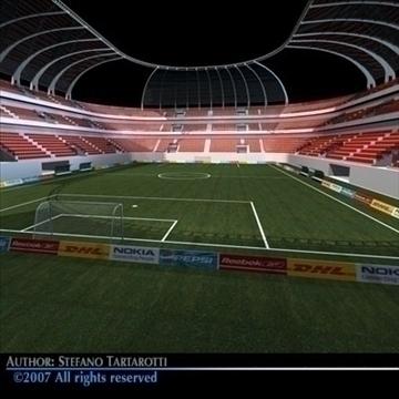 soccer stadium 3d model 3ds dxf c4d obj 84915