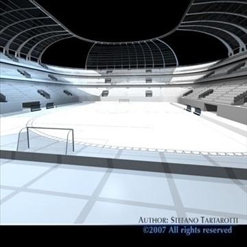 soccer stadium 3d model 3ds dxf c4d obj 84916