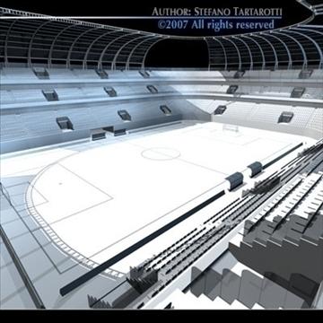 soccer stadium 3d model 3ds dxf c4d obj 84917