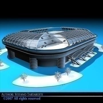 soccer stadium 3d model 3ds dxf c4d obj 84918