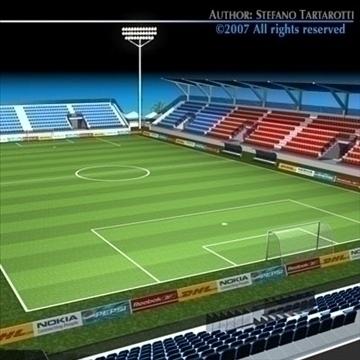 soccer stadium med 3d model 3ds dxf c4d obj 85359