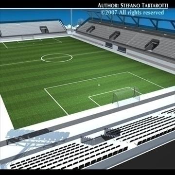 soccer stadium med 3d model 3ds dxf c4d obj 85360