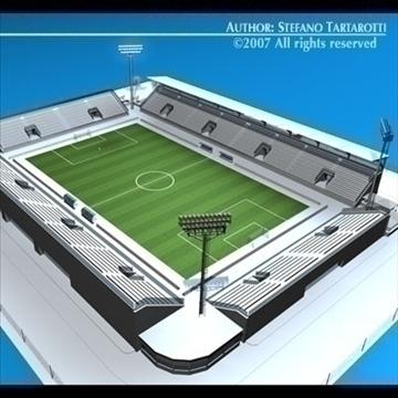 soccer stadium med 3d model 3ds dxf c4d obj 85361