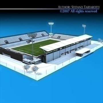 soccer stadium med 3d model 3ds dxf c4d obj 85362