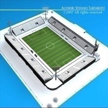 soccer stadium med 3d model 3ds dxf c4d obj 85363